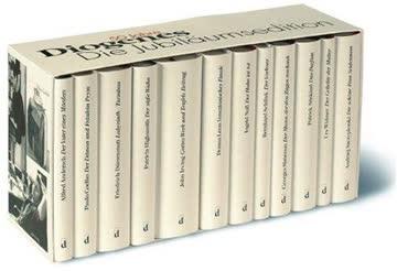 Diogenes Jubiläums-Edition in 12 Bänden in Kassette