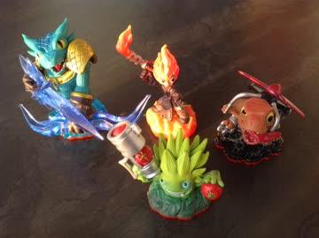 4 Figuren des Games Skylanders