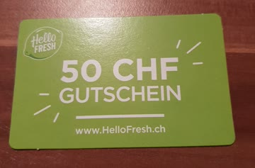 Hello Fresh 50 CHF Gutschein