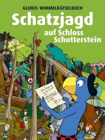 Globis Wimmelrätselbuch - Schatzjagd auf Schloss Schotterstein