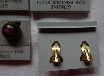 Ohrclips – echte Steine NEU