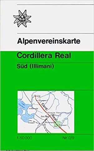 Alpenvereinskarte Cordillera Real Süd - Illimani