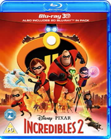 The Incredibles 2 3D [Blu-ray] [UK Import]