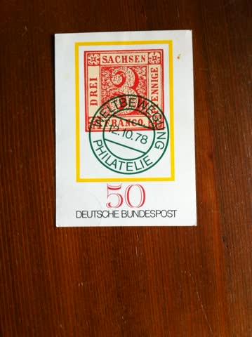 1978 Deutsche Bundspost Postkarte Weltbewegung Philatelie