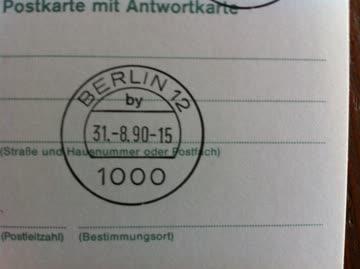 1990 2 Postkarten mit Antwortkarten Berlin München