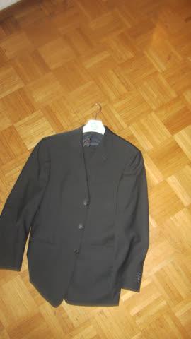 Eleganter Anzug in dunkelgrau von Rene Lezard, Grösse 48