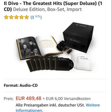 IL DIVO THE GREATEST HITS SUPER DELUXE