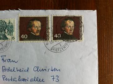 1977/1980 Brief mit 2x5 und 2x40 Rp Volksbräuche und Europa