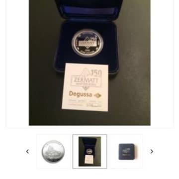 1 oz 150 Jahre Matterhorn Silbermünze neu