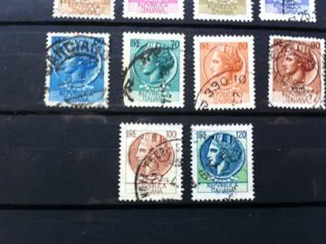 Briefmarken Italien 1953 -1977 Siracusana oder Turrita