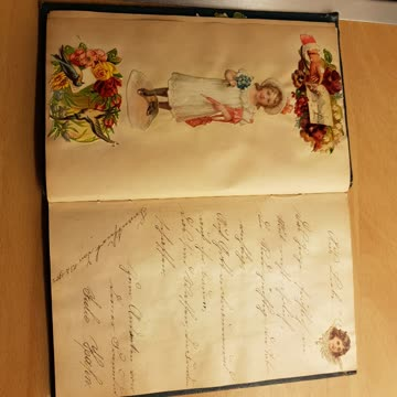 Antikes Poesiealbum von 1908
