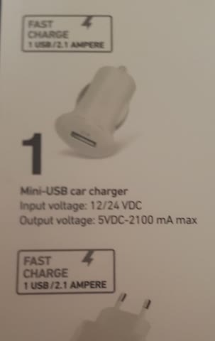sbs mini-USB car charger, neu