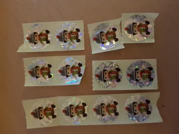 12 Wichtel-Sticker von Migros. Versand per A-Post.