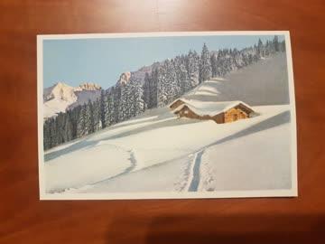 Alte Weihnachtskarten Berner Oberland Wintermotiv, 10 Stk