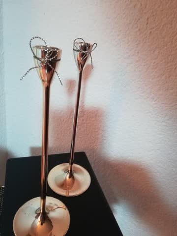 """2 Kerzenständer """" Love knots"""" von Wedgwood"""