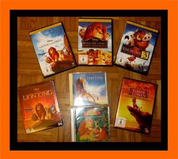 1 Walt Disney DVD König der Löwen Paket Lion King Pakage