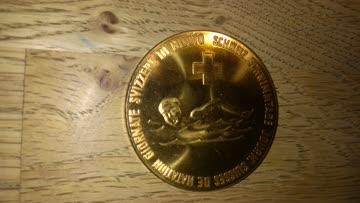 Medaille: Schweizerische Schwimmtage farbe Gold Nr1