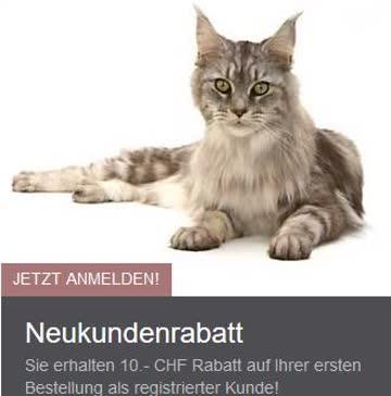 10Fr. Rabatt für Neukunden bei iPet.ch