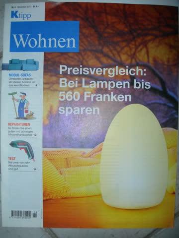 Wohnen Nr. 4, Nov. 2017 - Preisvergleich: Bei Lampen bis 560