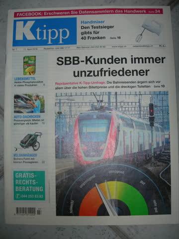 Nr. 7, 11.04.2018: SBB-Kunden immer unzufriedener