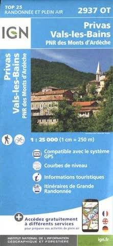 Privas Vals Bains 1 : 25 000
