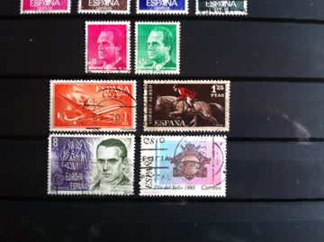 Briefmarken Spanien 17 verschiedene ältere Marken