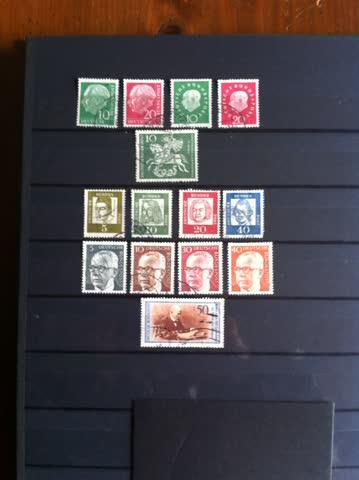 Briefmarken Deutschland ab 1954 Potraits 14 versch. ältere
