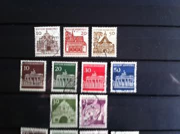 Briefmarken Deutschland ab 1964 Gebäude 20 verschiedene M.