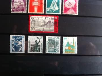 Briefmarken Deutschland ab 1967 14 verschiedene Marken