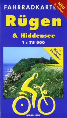 Rügen & Hiddensee 1 : 75 000 Fahrradkarte: Mit Rügen-Rundtour