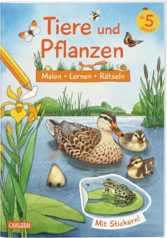 Tiere und Pflanzen (Softcover) mit Stickern