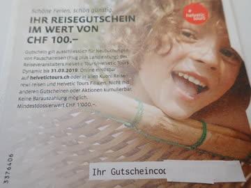 Helvetic Tours Reisen CHF 100