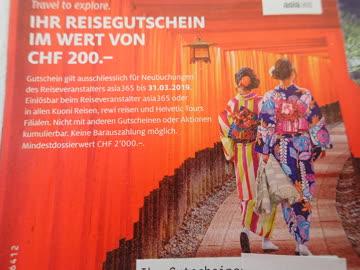 Asia365 Reisen CHF 200