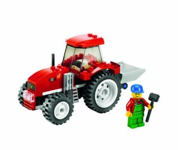 LEGO city Tractor rot 7634 Komplett mit Anleitung