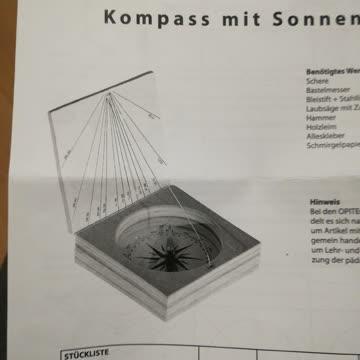 Opitec Bausatz Kompass mit Sonnenuhr