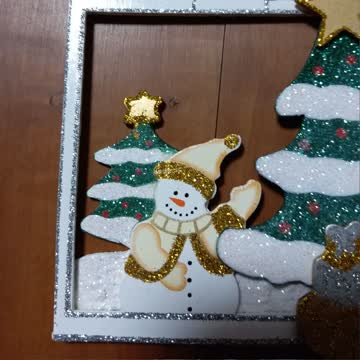 Weihnachts Deko fürs Fenster oder Wand