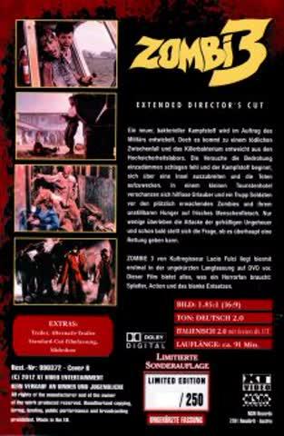 Zombie 3 - Extended Director's Cut (Grosse Hartbox von XT)
