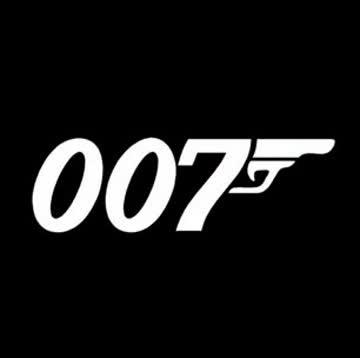 Bond Auto-Sticker grau/weiss (22cmx7cm)