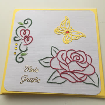 Karte mit Rose