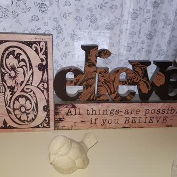 4 teiliges deko shabby vintage set