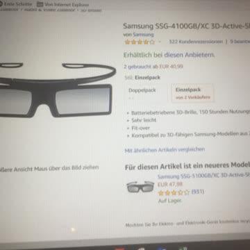 2xSamsung SSG-4100 GB 3D Brille