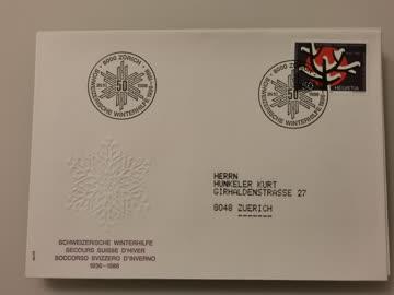 1986 Sonderbeleg Winterhilfe 8000 Zürich