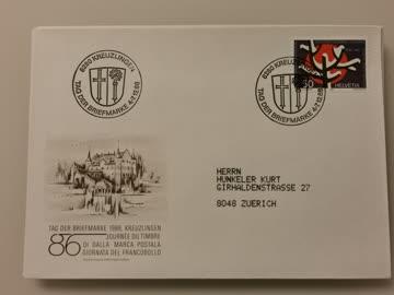1986 Tag der Briefmarke Beleg 8280 Kreuzlingen