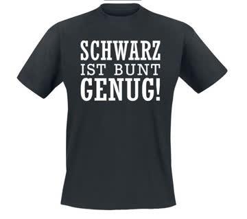 SCHWARZ IST BUNT GENUG ** T-SHIRT NEU ** XXL