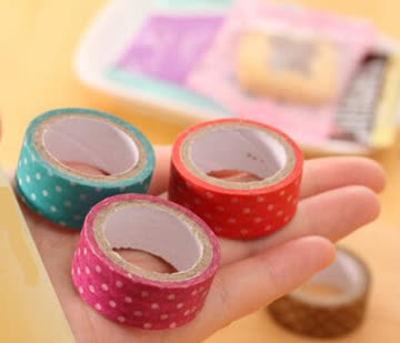 NEU! Masking Tape braun-weiss Polka dots