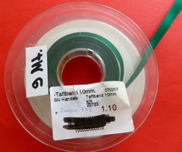 Taftband 9 Meter Lang, Breite 10 mm Farbe: tannengrün
