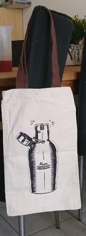 Beer station bag, Stofftasche, Einkaufstasche