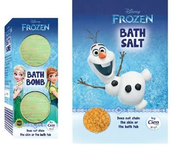 Frozen Badesalz und 2 x Badebombe