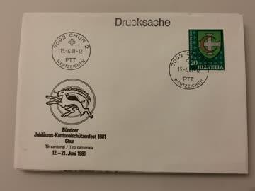 1981 Sonderbeleg Dricksache 7002 Chur