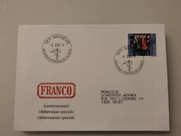 1992 Sonderstempelbeleg 1211 Geneve